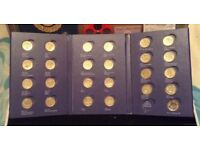 Royal mint round pound coin album. Plus all coins