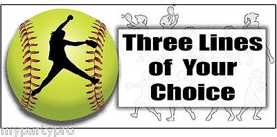 FASTPITCH SOFTBALL PERSONALIZED BANNER Party Supplies FREE SHIPPING