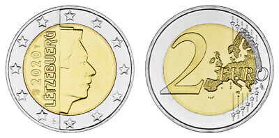 LUXEMBURG 2 EURO KURSMÜNZE GROSSHERZOG HENRI MZZ. LÖWE 2020 bankfrisch