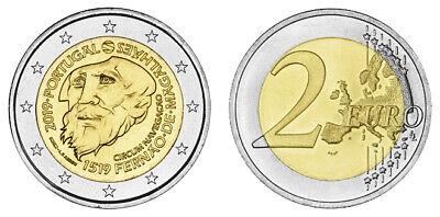 PORTUGAL 2 EURO FERDINAND MAGELLAN - 500 JAHRE 1. WELTUMSEGLUNG 2019 bankfrisch