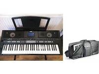 Yamaha PSRS650 Keyboard (with sturdy stand and Keyboard carry case)