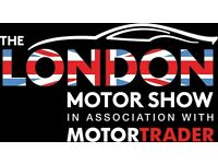 2 x Adult Tickets to The London Motor Show