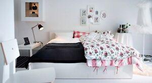 Ikea Malm high bed with mattress & slats