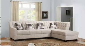 Brand New Beige Sectional Couch Sofa BNIB