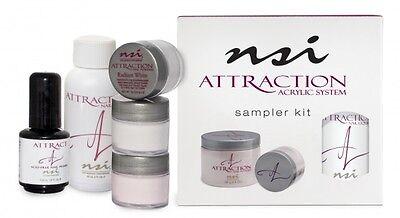 NSI Attraction Acrylic Sampler Kit Nails Primer, Powders & Liquids