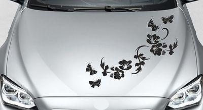 TYLE Motorhaube Tattoo Tribal Blumen Ranke Schmetterling  70 (Tribal Blumen)