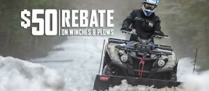 25% OFF WARN PRO VANTAGE ATV / UTV SNOW PLOW KITS!