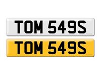 TOM TOMMY THOMAS Private Cherished Personal Registration Number Plate