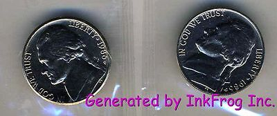 1986 P & D JEFFERSON NICKEL CHOICE/GEM BU PAIR FROM MINT SETS