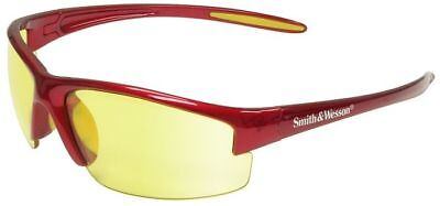 Smith Wesson Equalizer Safety Glasses With Red Frame And Amber Lens