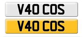 private car reg V40 COS