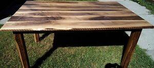 Live Edge Black Walnut Rustic Custom  Dining Table