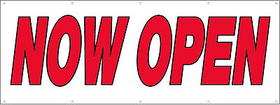4x8 Ft Now Open Vinyl Banner Sign New - Rw