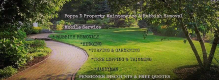 Poppa D landscaping and all rubbish removal phO4327584l9