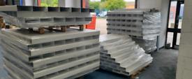 Vent Axia Job Lot of 250 x 220x90mm Flat Channel Plastic Duct 1.5mtr