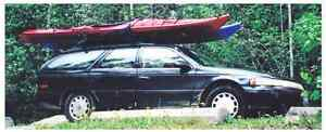 2 ocean kayaks and accessories c/w car and Thule racks