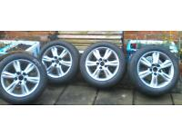Set of 4 Lexus is200 16inch wheels with excellent Bridge stone Touranza tyres - all with 6-7 mm