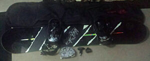 160 Firefly Ultimate snowboard with K2 bindings,boots/tool kit.