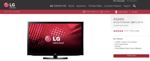 """47"""" LG LCD TV for sale"""