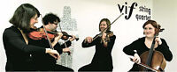 Fun and classy string quartet for your wedding