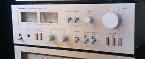 RARE 1976 Vintage technics stereo power amplifier.