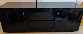 Black gloss TV cabinet