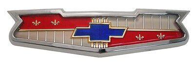 1956 1958 Chevy Impala Belair Biscayne 210 150 Hood Emblem Assembly V8 Chevrolet 1958 Chevy Impala Hood