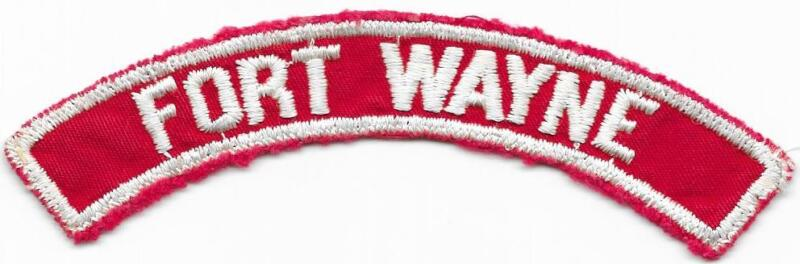 Fort Wayne Red and White RWS Community Strip Vintage Boy Scouts BSA