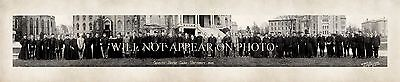 """1914 Notre Dame Faculty South Bend Indiana Vintage Panoramic Photograph 34"""" Long"""