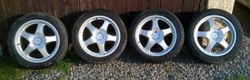 Genuine Azev M Type 17x7.5J Alloy Wheels 5x110 Fit Saab/ Vauxhall