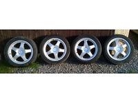 Genuine Azev M Type 17x7.5J Alloy Wheels 5x110 Fit Saab/ Vauxhall