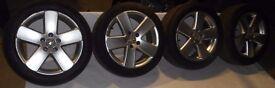 VW Passat B6 Touran Golf MK5 Genuine BORBET 5x112 17'' Alloy wheels with tyres