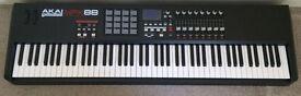 Akai MPK 88 MIDI Keyboard Controller MPC Pads Music Production Boxed