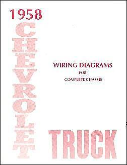 1958 58 Chevrolet Truck Wiring Manual