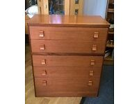 Vintage retro Stagg chest of drawers