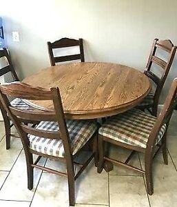 Tables and chairs in mint condition