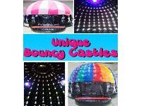 Bouncy Castle Hire-Disco Domes-Unique Bouncy Castles-County Durham