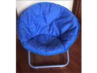 Kids Moonchair From Asda Folds Away Metal Base Fabric Seating