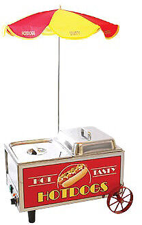 Benchmark Usa Hotdog Mini Cart Steamer Model Number 60072