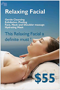 Relaxation Facial 60 mins / $55
