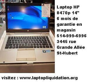 Laptop HP 8470p 14'' 8 Go très rapide