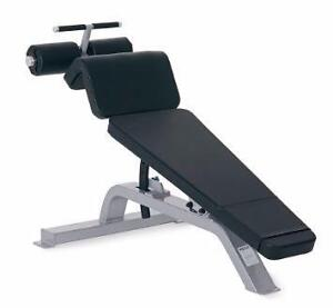 NEW Commercial eSPORT T1037 Adjustable Decline Bench (in Stock units with white frames black pads)