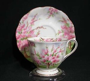 Royal Albert Blossom Time Footed Tea Cup and Saucer