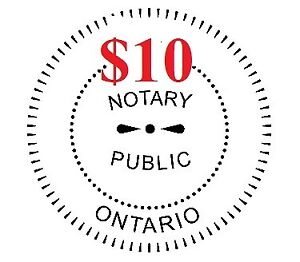 $10 Notary Public - Available Days/Evenings - St Clair & Yonge
