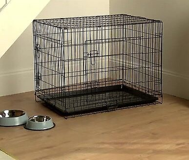 Dog Foldable Double Door Indoor Cage/kennel Barely used H61cm, W76cm, D54cm Medium