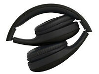 lightweight foldable black headphones £7