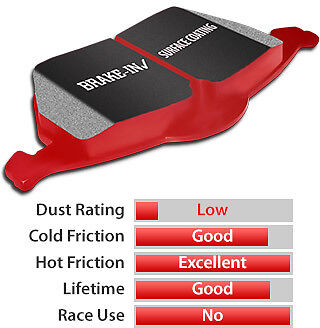 EBC REDSTUFF BRAKE PADS REAR DP3848C (CERAMIC - SPORT)