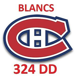 Paires de billets Canadiens - Blanc 324 DD