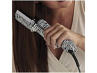 White Zebra Rotating Hair Instyler