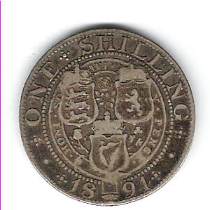 Coin 1894 Great Britain Schilling Kingston Kingston Area image 2